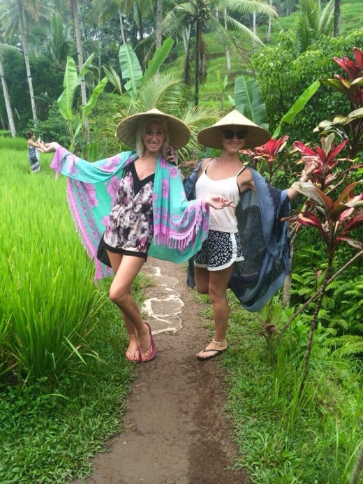 Enjoying the Rice Fields