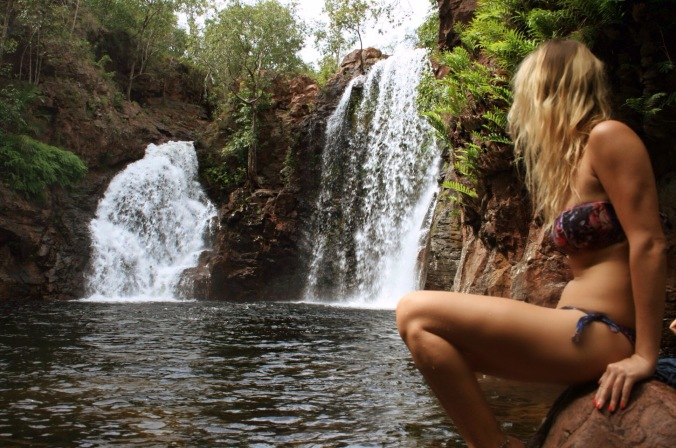 FLORENCE FALLS. MY BUM STAYED IN MY PANTS HERE...