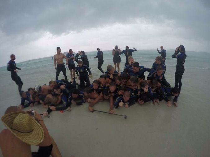 ...but the weather took a turn for the worse when we were on the famous Whitehaven Beach and we got smashed by what felt like bricks. Hardest rain EVER!! It was absolutely hilarious though and it made the trip unforgettable.